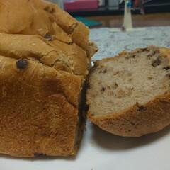 チョコチップ入り/ホームベーカリーで食パン レジンの合間にチョコチップ食パン🍞 焼き…