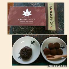 岡山県チョコきびだんご/広島もみじショコラ/みやげ 普段?SAやPで土産ナンテ買わない主人で…