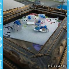 レジンひんやりアクセサリー/氷風/ハンドメイド/手作り/ハンドメイド作品/LIMIA手作りし隊/... 🥵暑い🔥🥵暑い🔥  なのでブルーを主体に…(1枚目)