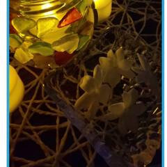 ジャスミンの香り/ゆらぎ🔥/キャンドルホルダー手作り/ハンドメイド/手作り/ハンドメイド作品/... 自宅で咲いて落ちたジャスミンの花の香りに…(1枚目)