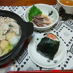 1人晩飯/おにぎりアクション 4回目のonigiriAction(っ'…