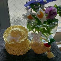 花が好き/ハンドメイド/猫/ダイソー/わたしのお気に入り 手を加え進化した作品❤️