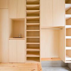 狭小住宅/狭小地/デザイン/建築/建築家/設計事務所/... 収納力 シンプルな暮らしの秘訣