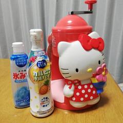 かき氷/おすすめアイテム/令和の一枚/至福のひととき/おやつタイム 娘が幼稚園の時に買ったかき氷器。里帰り出…