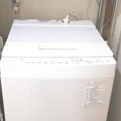 洗面所/家電/東芝 #ウルトラファインバブル #静音 8年使用した洗濯機、脱水がうるさくなり、…