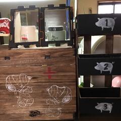 すのこ/豚さん/スヌーピー ミイラスヌさん扉の薬箱と言う名のキッチン…