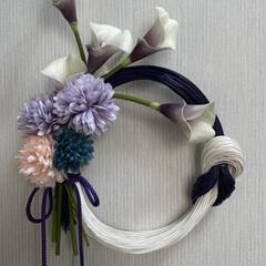 しめ飾り/雑貨/ハンドメイド オーバルの正月飾り ちょっとシンプル過ぎ…
