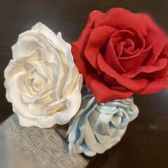 樹脂粘土/雑貨/ハンドメイド 久しぶりの粘土遊び お正月のお飾りに紅白…