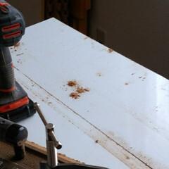 LIMIAインテリア部/収納/シンデレラフィット/ハンドメイド/DIY/暮らし/... いらなくなった折りたたみテーブルを丸のこ…(2枚目)