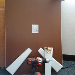 LIMIAインテリア部/収納/シンデレラフィット/ハンドメイド/DIY/暮らし/... いらなくなった折りたたみテーブルを丸のこ…(1枚目)
