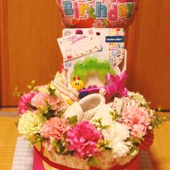 クリスマス/DIY/雑貨/オムツケーキ/女の子/おめでとう/... 甥っ子から友達に可愛い女の子が誕生した…