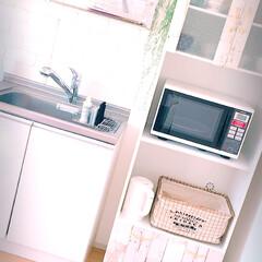 発泡スチロールレンガ/キッチン/食器棚/100均リメイクシート