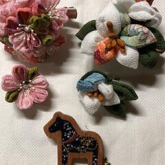 手作りアクセ ブローチ&髪飾り