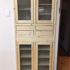 スライドレール/ニッチ収納/食器棚DIY/DIY/キッチン 壁を抜いて食器棚を作り!