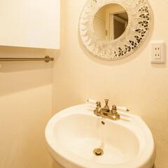 洗面所/ペデスタル/水栓/鏡/愛知/名古屋 ペデスタルの洗面と輸入の水栓でオシャレで…