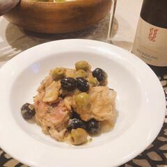 チルウィッチ ダリア chilewich ランチョンマットおしゃれ ランチマット テーブル パーティー(ランチョンマット)を使ったクチコミ「チキンとオリーブの煮込みと、お家にあった…」