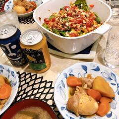 スタッキング ビールピッチャー (専用フタ付)(皿)を使ったクチコミ「お盆だったので、父の好物をいろいろ作って…」