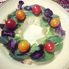 BRUNO マルチスレート ロング 幅40×奥行13×高さ0.6cm)   IDEA INTERNATIONAL(皿)を使ったクチコミ「クリスマスはお家でパーティでした🎄 ロー…」(3枚目)