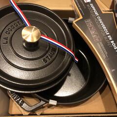 ピコ・ココット ラウンド | ストウブ(グリル鍋)を使ったクチコミ「ずっと欲しかったストウブのお鍋をいただき…」(2枚目)