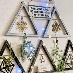 レターボード/三角オーナメント/壁面ツリー/壁面オーナメント/キャンドゥ/セリア/... セリアの三角オーナメントとキャンドゥのレ…