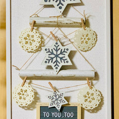 ツリー/雪の結晶/フェルト/壁面オーナメント/モノトーン/クリスマス2019/... 白とグレーのフェルトだけの、シンプルなs…