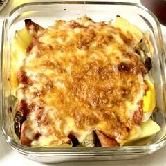 晩ごはん/グラタン/リメイク/ミートソース/おうちごはん 🍴豆腐と野菜のミートソースグラタン🍴  …