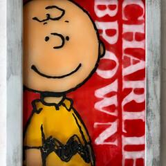LIMIAでアイデア投稿/チャーリーブラウン/フォトフレーム/ガラス絵の具/LIMIAインテリア部/雑貨/... チャーリー好きの、行きつけのお店のオーナ…