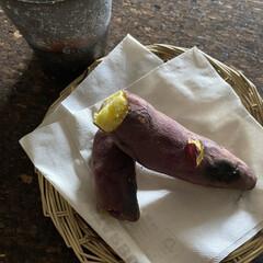 ダイエット/食物繊維/焼き芋専用土鍋/コーヒー/焼き芋/朝ごはん 本日の朝ごはん 焼き芋とコーヒー(^^;…