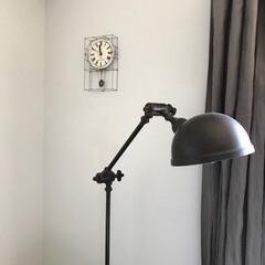 コーディネート/模様替え/インテリア/住まい/リフォーム/我が家の照明 寝室に取付けていた時計 リビングに取付け…
