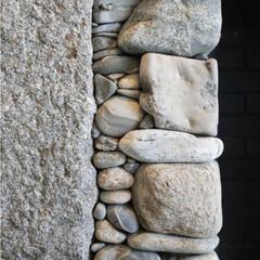 日常のふとしたこと/石積み/material/素材/暮らし サイズ色々 石積み  好きなmateri…