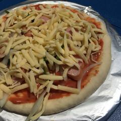 手作りピザ/アウトドア用品/アウトドア/秋/フード 河川敷でBBQ‼︎そして、ピザも焼いた‼…
