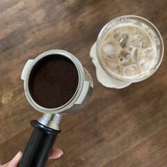 デロンギ エスプレッソマシン EC152J | デロンギ(エスプレッソマシン)を使ったクチコミ「朝ラテ。おうちで入れるエスプレッソは格別…」