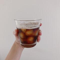 夏/エスプレッソ/デロンギ/コーヒー/おうちカフェ/アメリカーノ/... アイスアメリカーノ横から。デロンギで簡単…