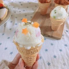 アイス/ポテトサラダ/アイス風/おうちカフェ/ポテサラアイス/ポテサラ/... 冬は寒くてなかなか大好きなアイスが食べら…