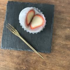 ターナー色彩 - アンティークワックス - 120g - ウォルナット | ターナー(ニス、ステイン)を使ったクチコミ「いちご大福。 和菓子を久しぶりに食べて、…」