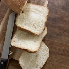 1斤タイプ ホームベーカリー SD-SB1 | パナソニック(ホームベーカリー)を使ったクチコミ「ホームベーカリーパンの断面。ふんわりーで…」