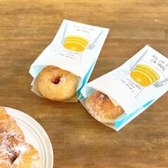 ホームベーカリー SD-MT3   パナソニック(ホームベーカリー)を使ったクチコミ「強力粉と米粉のドーナツ。イーストでふんわ…」(1枚目)