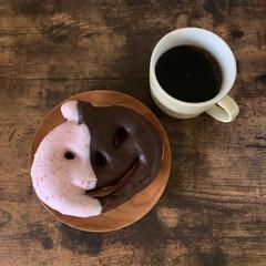 ハロウィンパーティ/ハロウィーン/ミスド/おうちカフェ/おやつタイム/LIMIAスイーツ愛好会/... ミスドのハロウィーンドーナツ。 かわいい…