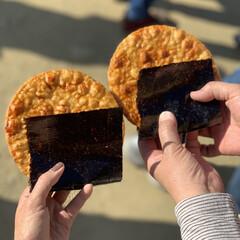 大内宿/福島県/おせんべい/食べ歩き/おでかけ/旅行/... 福島県大内宿で食べ歩きした、大きなおせん…