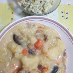 ズボラ飯/食事情 4日目のシチュー 週末に大鍋で大量に作っ…