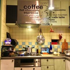 キッチン/キッチンスケール/タニタ/ステンレス/L型システムキッチン/炊飯専用鍋/... 【わが家のタニタ】 あるよ〜♬ カッコい…
