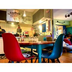 セルフリノベーション/ポップ/カフェ風/ウォールステッカー/黄色/タイル壁/... RoomClipにて カラフルイベント …
