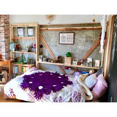 黒板/楽譜/理系インテリア/子供部屋/巨大なドイリー/ブランケット/... 冬のお休み空間 フカフカの毛布を増やす位…