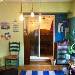 カラフル/海外風/海を感じるインテリア/流木/リビングの隣/間接照明/... 【楽器のある部屋】 隣の部屋に設置してい…