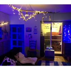 流木/流木照明DIY/ターコイズブルーのドア/海外インテリア/古いマンション/KAWAI/... 【楽器のある部屋】 マンションなので グ…