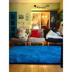 リビング/海外インテリア/青いドア/黄緑の壁/カラフル/niko and…/... カラフルイベントと言えば このアングルも…