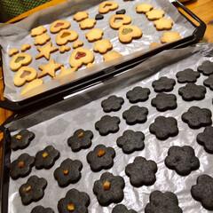手作りクッキー/お菓子作り 竹墨パウダーを使って 黒いクッキー