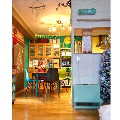 カフェ風/海外インテリア/セルフリノベーション/間仕切り壁DIY/イームズチェア/ターコイズブルー/... 写真を撮って気付いた事 冬の恋人ガスファ…