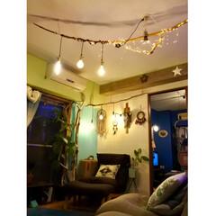 グリーン/DIY/リフォーム/ハンドメイド/流木照明DIY/ドリームキャッチャー自作/... 本日の息子くん 元気に隣の部屋でwiiし…