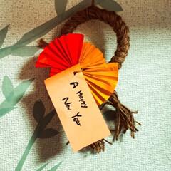 しめ縄飾りDIY/しめ縄ハンドメイド/お正月飾り お正月飾り作り しめ縄作った